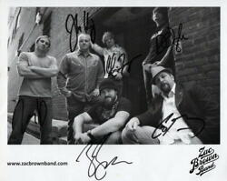 Zac Brown Full Band X6 Signed Autograph 8x10 Photo Country Chicken Fried Acoa