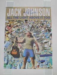Jack Johnson Signed Autograph Concert Tour Poster - All The Light Above It Too