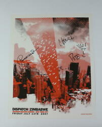 Dispatch Full Band Signed Autograph Concert Tour Poster - Zimbabwe Nyc 7/13/07