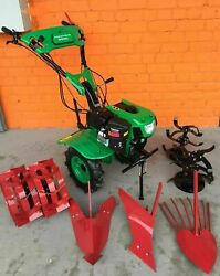 Two Wheels Tractor Cultivator Tiller 900c 7.5hp 5.5kw + Ploughs New