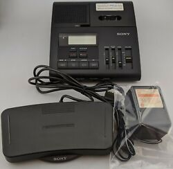 Sony Bm-850 Bm850 Microcassette Dictator/transcriber Foot Pedal And Adapter Good