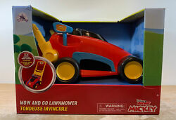 Disney Junior Mickey Mouse Clubhouse Mow And Go Lawnmower New