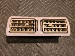 90-92 Ford Mustang Fox Titanium Gray Dash Vent Louvers Registers Heater 87-89