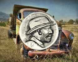 1936 D Hand Carved Original Hobo Nickel OOAK quot;Uncle Smokeyquot; by SteveOrino $24.99