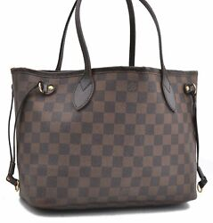 Authentic Louis Vuitton Damier Neverfull PM Tote Bag N51109 LV A6818 $432.00