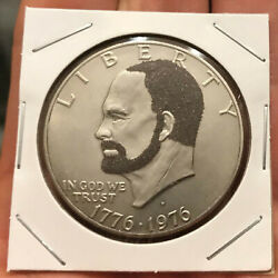 1976 D Hobo Nickel Style Carving Ike Dollar quot;Bearded Eisenhowerquot; $15.60