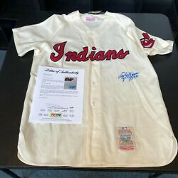 Early Wynn 300 Wins Signed Mitchell And Ness Cleveland Indians Jersey Auto Jsa Coa