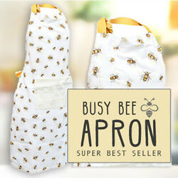 Busy Bee - Adorable Kitchen Apron - Bee And Beehive Collection - Bumble Bee