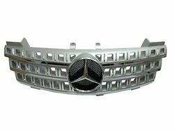 W164 2005-2009 Pre-facelift Grille/grill 3fin Chrome/silver For Mercedes-benz