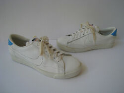 Nike Wimbledon 1974 White Leather Tennis Shoes Size 9 Very Rare Made In Japan