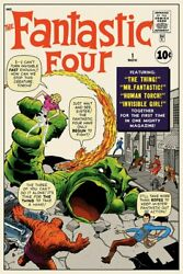 Fantastic Four 1 Screenprinted Poster By Jack Kirby Mondo Limited Edition X/225