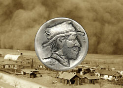 1936 Hand Carved Original Hobo Nickel OOAK quot;Uncle Fuzzyquot; by SteveOrino $24.99