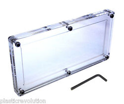 Acrylic Single Bank Note Frame Plastic Money Holder Currency Display Dollar Case