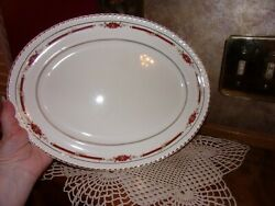 Johnson Brothers Guildford Maroon Old English Oval Platter Tray Made In England