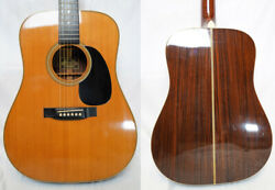 Used And03970s Headway Hd-1125 Natural Mij Vintage All Solid Acoustic Guitar W/hsc