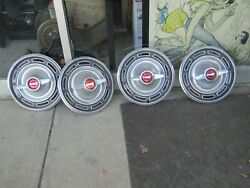 Ford Galaxie/fairlane/falcon Hubcaps Wheel Covers Center Caps Vintage Spinners