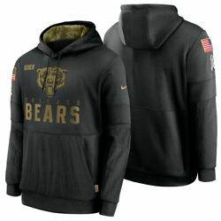 Authentic Nike Chicago Bears Men's 2020 Nfl Salute To Service Hoodie Black New