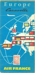 Air France Europe Caravelle Aviation Airlines Route Map Europe Map World Map