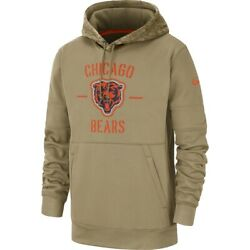 Chicago Bears 2019 Nike Nfl Salute To Service Therma-fit Hoodie Men's 3xl