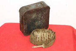 Wwi Imperial Russian Maxim Mg Canvas And Brass Ammo Belt In Navy Blue Box . 1916 .