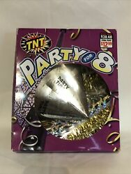 TNT Party For 8 Silver Gold Horns Hats Streamers Leis Tiaras New Years Eve $10.00