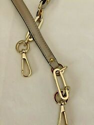 """Coach Taupe Leather Shoulder Replacement Strap 33"""" Long Gold Hardware NWOT $24.99"""