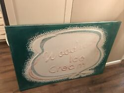 Woodson Dairy Ice Cream Ice Cream Tin Embossed Advertising Sign Red Hill Pa