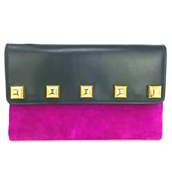 New W/tag 1150 Marc Jacobs Suede And Leather Clutch / Wristlet / Shoulder Bag.