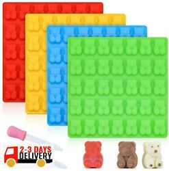 Big Gummy Bear Mold Large Silicone Gummy Molds 1 Inch 4 X Pack With 2 X Dropper