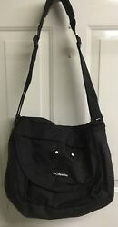 Columbia Outfitter Messenger Diaper Bag Black great for dad EEUC $9.99
