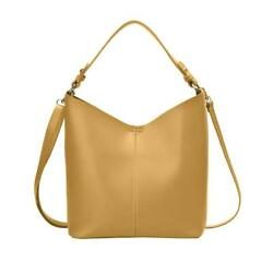 Solid Shoulder Bag Women Large Capacity Leather Splicing Handbags Yellow #Z $14.39