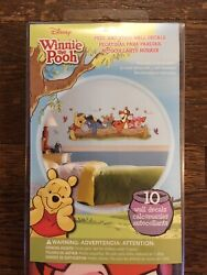Roommates WINNIE THE POOH Giant Mural Wall Decals Baby Nursery NEW