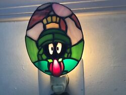 Marvin The Martian Stained Glass Night Light
