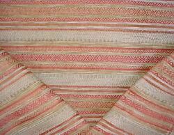 Colefax And Fowler F4628 Carey Red Southwest Chenille Ikat Upholstery Fabric
