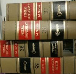 Lot Of 150 1999-2001 West Federal Supplement 2nd Series Law Books