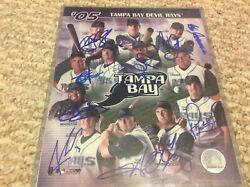 2005 Tampa Bay Devil Rays Team Signed Composite 8x10 Photo
