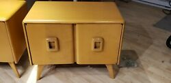 Rare Vintage 1953 Heywood Wakefield Record Cabinet Mellow Birch 28w X 17d X 22h