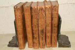 1913 Antique Leather Bound Book Set The Complete Works Of James Whitcomb Riley