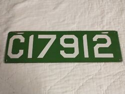 Superb 1912 Connecticut Porcelain License Plate Tag With 1912 In Number
