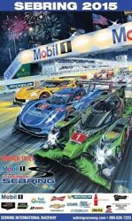 2015 12 Hours Of Sebring Imsa Tusc Event Poster Action Express Racing Win