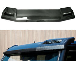 Mercedes Brabus 4x4 6x6 Style W463 G63 Wagon Front Roof Carbon Spoiler With Leds