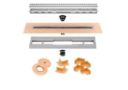 Schluter Kerdi Shower Drain Kit Channel Body With Brushed Ss Perforated Grate