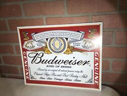 ☆ Tin Signs 2001 Budweiser King Of Beers - Label 979 Man Cave Wall Decoration