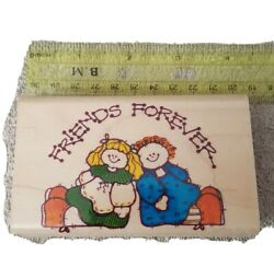 Forever Friends Raggedy Anne Dolls 1996 Rubber Mounted Stamp - Impressive Stamps