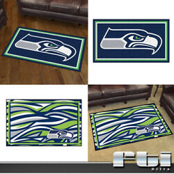Seattle Seahawks Nfl 3and039x5and039 4and039x6and039 5and039x8and039 8and039x10and039 Plush Carpet Area Rug Man Cave Mat