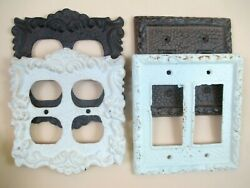Baroque And Victorian Style Cast Iron Electrical Outlets Switches Wall Plates
