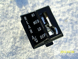 Chevy Suburban Rare Rear Heater Ac Auxiliary Switches And Bezels