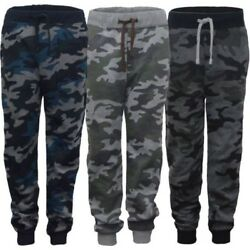 Kids Camo Print Tracksuit Trousers Girls Boys Jogging Bottoms Sweatpants 3 14 $22.16
