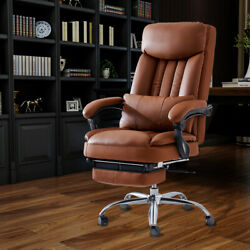 High Back Recline 360anddeg Boss Office Chair Pu Leather Black/brown Office Executive