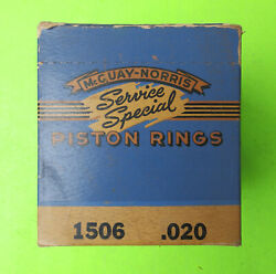 1934 35 1936 1937 1938 1939 1940 1941 Nors Plymouth Piston Rings 3 1/8 .020 O/s